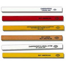 555: Flat Carpenter Pencil - Medium Black Lead
