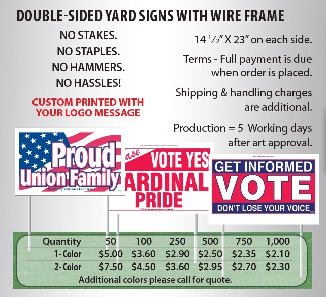 Kennedy Graphics Yard Signs 2018 catalog page 4